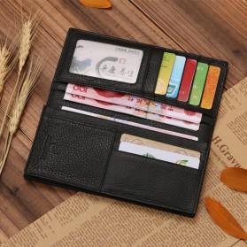 JINBAOLAI Dompet Pria Long Wallet - 8039 - Brown - 2