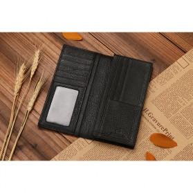 JINBAOLAI Dompet Pria Long Wallet - 8039 - Brown - 4