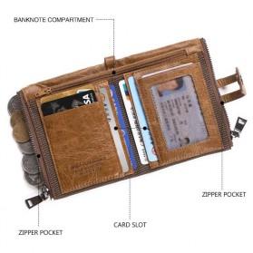 JINBAOLAI Dompet Pria Simple Elegant Wallet - 307 - Coffee - 2