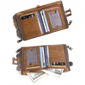 JINBAOLAI Dompet Pria Simple Elegant Wallet - 307 - Coffee - 3
