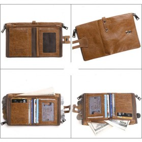 JINBAOLAI Dompet Pria Simple Elegant Wallet - 307 - Coffee - 4