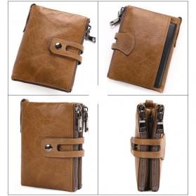 JINBAOLAI Dompet Pria Simple Elegant Wallet - 307 - Coffee - 5
