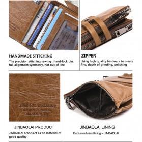 JINBAOLAI Dompet Pria Simple Elegant Wallet - 307 - Coffee - 6