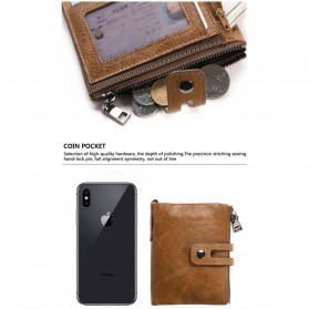 JINBAOLAI Dompet Pria Simple Elegant Wallet - 307 - Coffee - 7