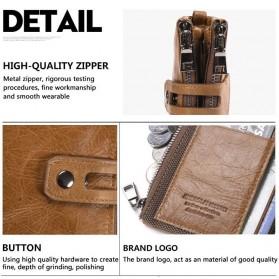 JINBAOLAI Dompet Pria Simple Elegant Wallet - 307 - Coffee - 8