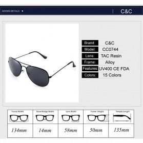 Pro Acme Kacamata Aviator Pria Mirror - CC0744 - Rose Gold - 4