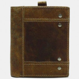 Tauren Dompet Vintage Pria Model Vertikal Bahan Kulit Sapi - Brown