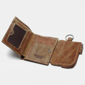 Tauren Dompet Vintage Pria Model Vertikal Bahan Kulit Sapi - Brown - 2