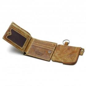Tauren Dompet Vintage Pria Model Horizontal Bahan Kulit Sapi - Brown - 2