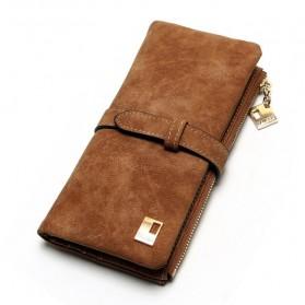 Trend Fashion Pria Terbaru - Tauren Dompet Panjang Pria Elegan Bahan Kulit Sapi - P420001 - Brown