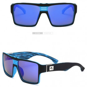 DUBERY Kacamata Pria Retro Polarized Sunglasses - Y729 - Deep Blue