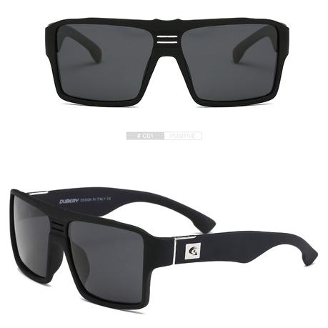 ... DUBERY Kacamata Pria Retro Polarized Sunglasses - Y729 - Black - 1 ... 8b921328d3