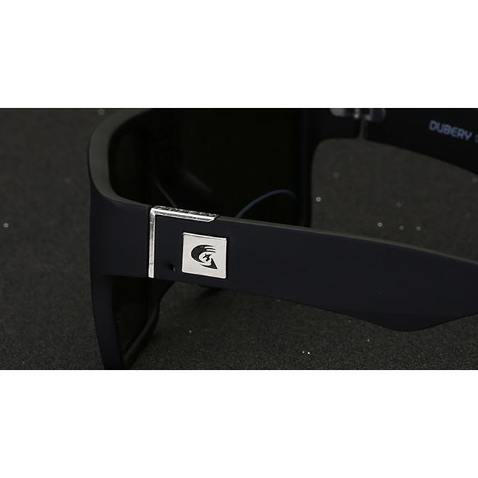 ... DUBERY Kacamata Pria Retro Polarized Sunglasses - Y729 - Black - 2 ... 42f236da29