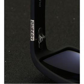 DUBERY Kacamata Pria Retro Polarized Sunglasses - Y729 - Red - 3