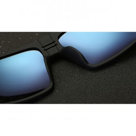 DUBERY Kacamata Pria Retro Polarized Sunglasses - Y729 - Red - 4