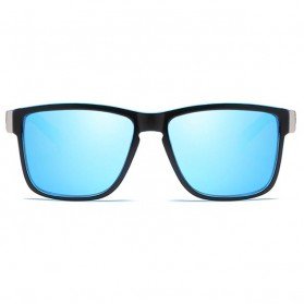 DUBERY Kacamata Pria Polarized Sunglasses - 518 - Black/Blue - 2