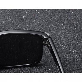 DUBERY Kacamata Pria Polarized Sunglasses - 518 - Black/Blue - 4