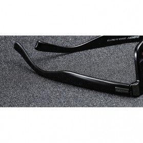 DUBERY Kacamata Pria Polarized Sunglasses - 518 - Black/Blue - 6