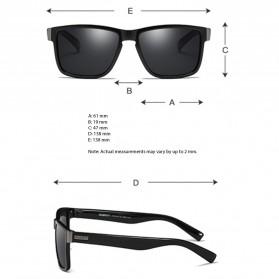DUBERY Kacamata Pria Polarized Sunglasses - 518 - Black/Blue - 8