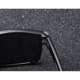 DUBERY Kacamata Pria Polarized Sunglasses - 518 - Black White - 4