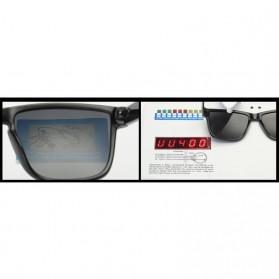DUBERY Kacamata Pria Polarized Sunglasses - 518 - Black White - 7