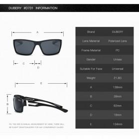 DUBERY Kacamata Pria Polarized Sunglasses - 2071 - Black Gold - 5
