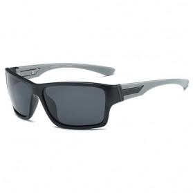 DUBERY Kacamata Pria Polarized Sunglasses - 2071 - Black/Gray