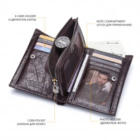 Contacts Dompet Pria Bahan Kulit - M1243 - Black - 3