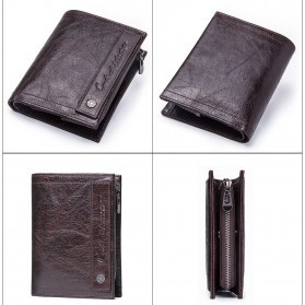 Contacts Dompet Pria Bahan Kulit - M1243 - Black - 5