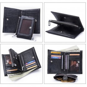 Contacts Dompet Pria Bahan Kulit - M1243 - Black - 6