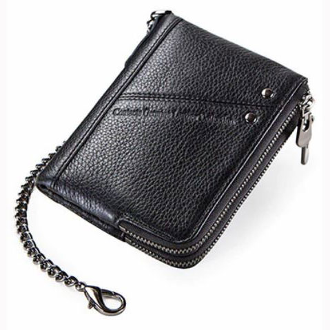 ... CONTACT Dompet Rantai Pria Vintage Genuine Leather Anti RFID - M1265 -  Black - 1 ... bccf46a57e