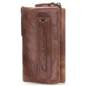 Contacts Dompet Kunci Bahan Leather - 1013 - Brown