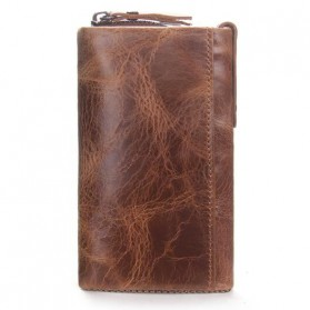 Contacts Dompet Kunci Bahan Leather - 1013 - Brown - 2