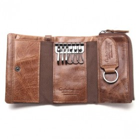 Contacts Dompet Kunci Bahan Leather - 1013 - Brown - 3