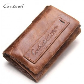 Contacts Dompet Kunci Bahan Leather - 1013 - Brown - 4