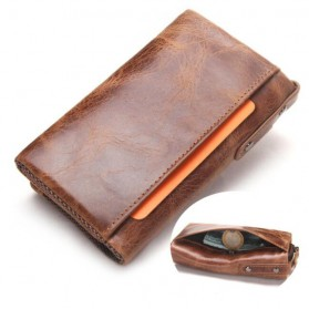 Contacts Dompet Kunci Bahan Leather - 1013 - Brown - 5