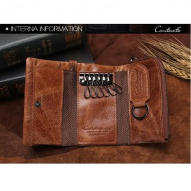 Contacts Dompet Kunci Bahan Leather - 1013 - Brown - 6