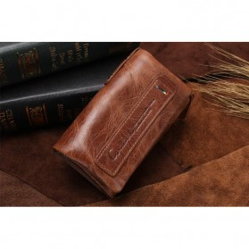 Contacts Dompet Kunci Bahan Leather - 1013 - Brown - 7