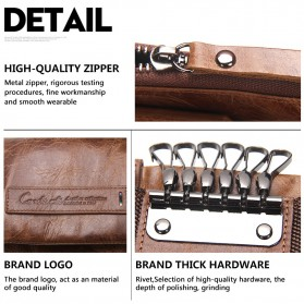 Contacts Dompet Kunci Bahan Leather - 1013 - Brown - 8