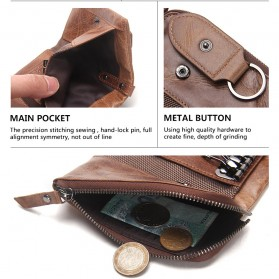 Contacts Dompet Kunci Bahan Leather - 1013 - Brown - 9
