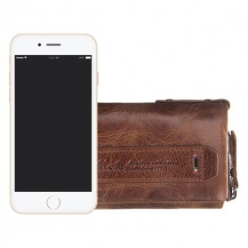 Contacts Dompet Kunci Bahan Leather - 1013 - Brown - 10