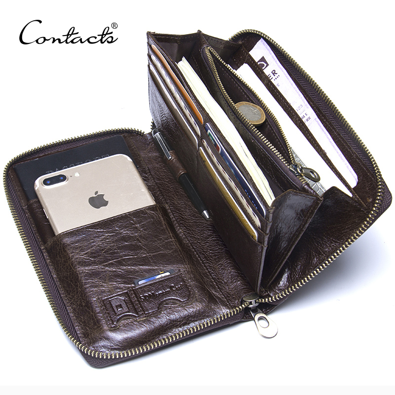 ... CONTACTS Dompet Kulit Handbag Pria - M1246 - Black - 2 ...