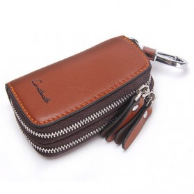 Contacts Dompet Kunci Bahan Leather - 1005E - Brown