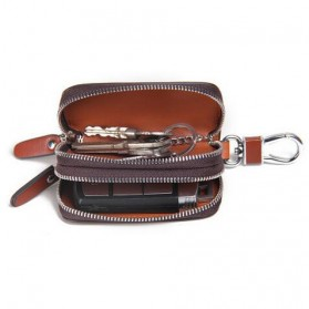 Contacts Dompet Kunci Bahan Leather - 1005E - Brown - 2