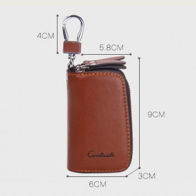 Contacts Dompet Kunci Bahan Leather - 1005E - Brown - 6