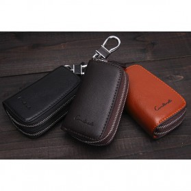 Contacts Dompet Kunci Bahan Leather - 1005E - Brown - 8