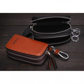 Contacts Dompet Kunci Bahan Leather - 1005E - Brown - 9