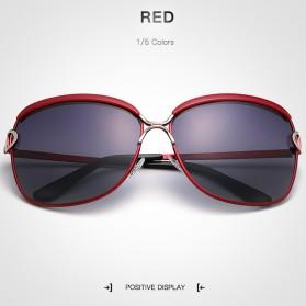 HDCRAFTER Kacamata Wanita Polarized Vintage Aluminium - Red