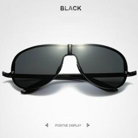 HDCRAFTER Kacamata Polarized Sunglasses Retro - E008 - Black