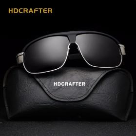 HDCRAFTER Kacamata Polarized Vintage Sunglasses - Black - 2